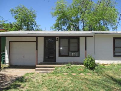 San Angelo TX Single Family Home For Sale: $59,900