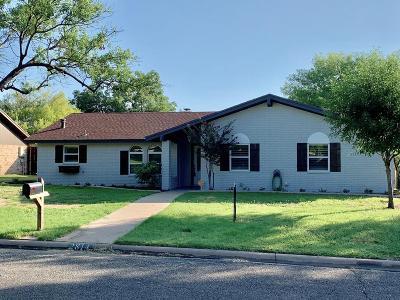 San Angelo Single Family Home For Sale: 2814 Chimney Rock Lane