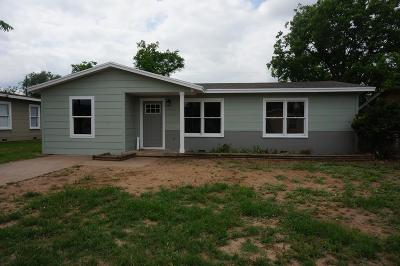 San Angelo Single Family Home For Sale: 2464 Raney St