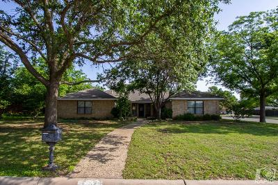 San Angelo Single Family Home For Sale: 3302 Valleyview Blvd