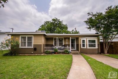 San Angelo TX Single Family Home For Sale: $120,000