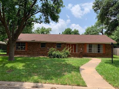 San Angelo Single Family Home For Sale: 2725 Canyon Creek Dr
