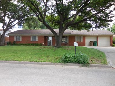 San Angelo TX Single Family Home For Sale: $156,000