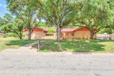San Angelo Single Family Home For Sale: 3610 Clark Dr