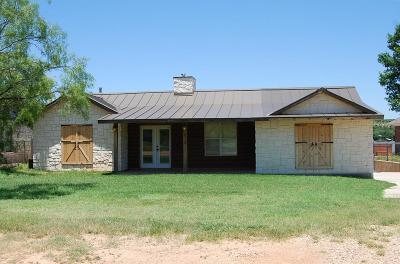 San Angelo Single Family Home For Sale: 2714 Red Bluff Ramp Rd