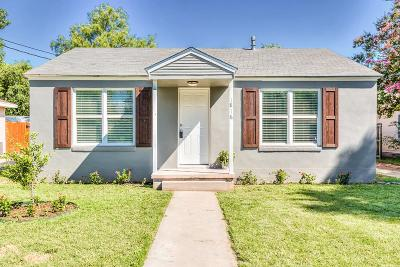 San Angelo Single Family Home For Sale: 1816 Bailey St
