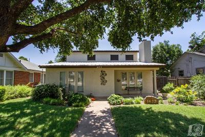 San Angelo Single Family Home For Sale: 1422 S Tyler St