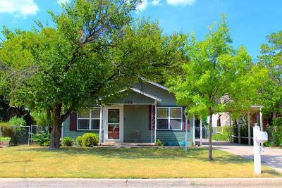 San Angelo TX Single Family Home For Sale: $84,500