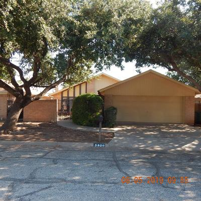 San Angelo, Wall, Christoval Rental For Rent: 3920 Driftwood Dr