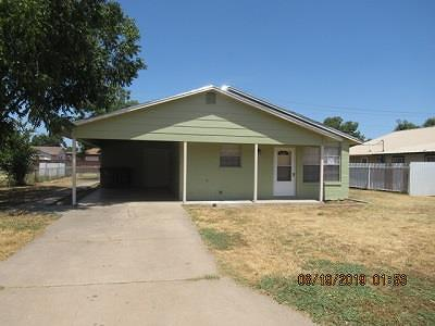 San Angelo TX Single Family Home For Sale: $119,500