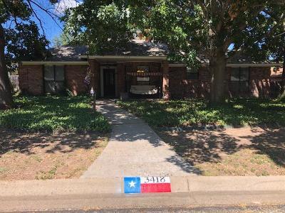 San Angelo Single Family Home For Sale: 3418 Cedarhill Dr
