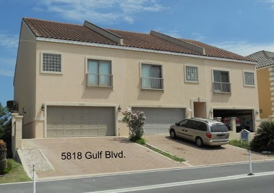 Condo/Townhouse For Sale: 5818 Gulf Blvd.