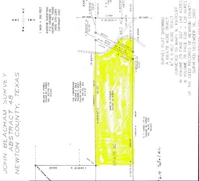 Kirbyville Residential Lots & Land For Sale: 25 Acres Cr 3068