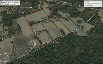 Kirbyville Farm & Ranch For Sale: 3296 Cr 517