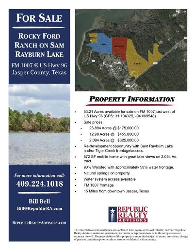 Brookeland Residential Lots & Land For Sale: Cr 223