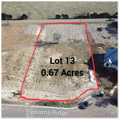 China Spring Residential Lots & Land For Sale: 109 Sonoma Ridge