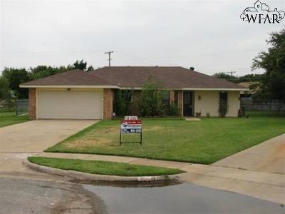 Wichita Falls TX Single Family Home For Sale: $109,500