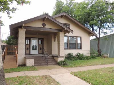Wichita Falls TX Single Family Home Active W/Option Contract: $55,000