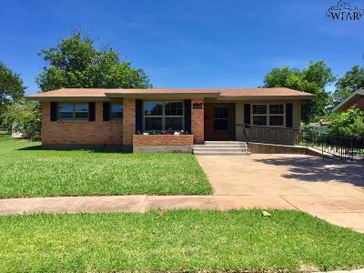 Wichita Falls Single Family Home Active W/Option Contract: 4513 Spencer Drive