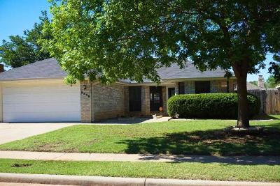 Wichita Falls Single Family Home For Sale: 5308 Long Leaf Drive