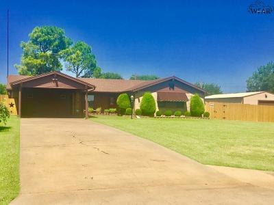 Wichita Falls Single Family Home Active W/Option Contract: 108 Royal Road
