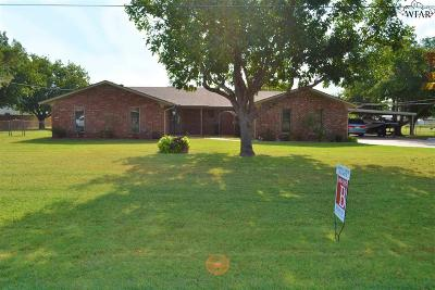Burkburnett Single Family Home Active-Contingency: 1403 Chaparral Road