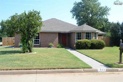 Burkburnett Single Family Home Active W/Option Contract: 511 Swenson Street