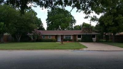 Wichita Falls Single Family Home For Sale: 2705 Chase Drive