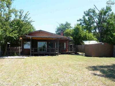 Wichita Falls Single Family Home Active W/Option Contract: 103 Ski Shore Street