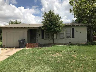 Wichita Falls TX Single Family Home For Sale: $69,000