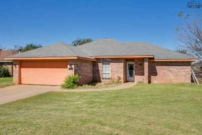 Burkburnett Single Family Home Active W/Option Contract: 1421 Amherst Street
