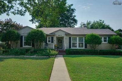 Wichita Falls Single Family Home For Sale: 2810 Speedway Avenue