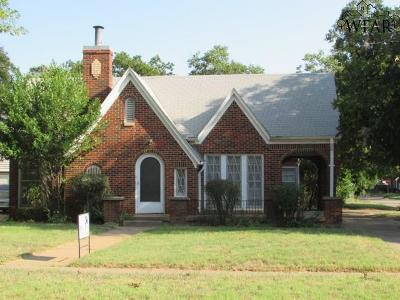 Wichita Falls Single Family Home For Sale: 2000 Speedway Avenue
