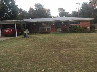 Wichita Falls Single Family Home Active W/Option Contract: 4438 Phillips Drive