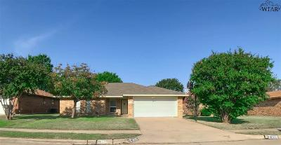 Wichita Falls Single Family Home For Sale: 2115 Selma Drive