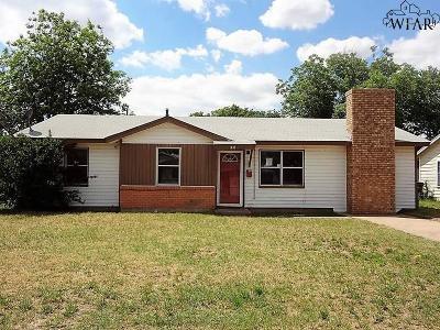 Wichita Falls TX Single Family Home For Sale: $38,900