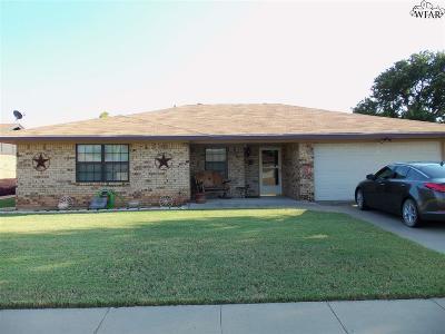 Wichita Falls TX Single Family Home For Sale: $121,500