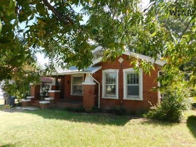 Wichita Falls TX Single Family Home For Sale: $18,500