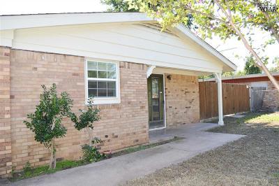 Wichita Falls TX Single Family Home For Sale: $109,000