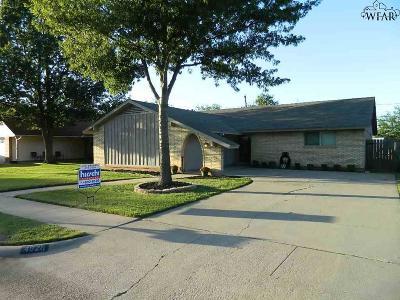 Wichita Falls TX Single Family Home Active W/Option Contract: $139,900