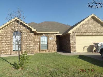 Wichita Falls TX Single Family Home For Sale: $189,000