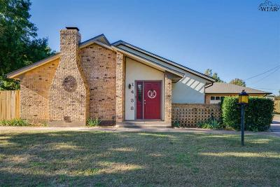 Burkburnett Single Family Home Active W/Option Contract: 1438 Cherokee Circle