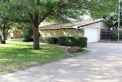 Wichita Falls Single Family Home Active W/Option Contract: 6702 Geronimo Drive