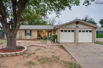 Wichita Falls Single Family Home Active W/Option Contract: 4664 Sierra Madre Drive