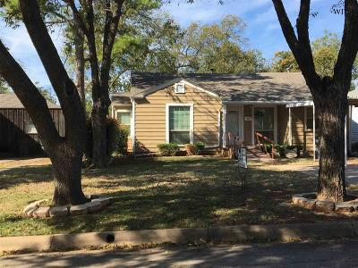 Wichita Falls Single Family Home Active W/Option Contract: 3214 Glenwood Avenue