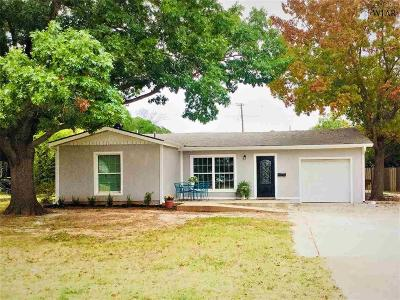 Wichita Falls Single Family Home Active W/Option Contract: 1608 Cedar Avenue