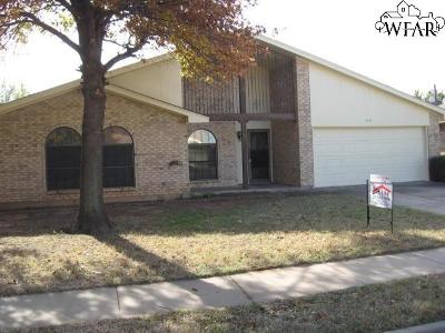 Wichita Falls Single Family Home For Sale: 5421 Pebblestone Drive
