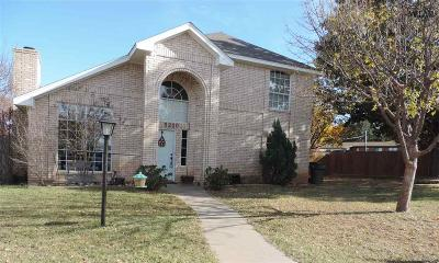Wichita Falls Single Family Home For Sale: 5200 Pebblestone Drive