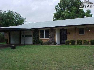 Burkburnett TX Single Family Home For Sale: $87,500
