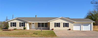 Burkburnett Single Family Home For Sale: 1419 Hiawatha Lane